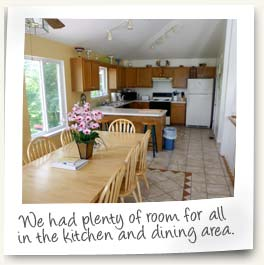 We had plenty of room for all in the kitchen and dining area!